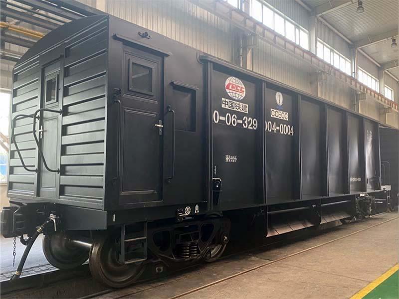 Ballast hopper wagon manufactured for UAE railway project